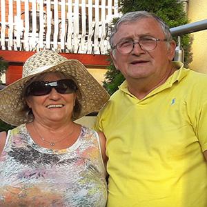 László József és felesége is élvezte a nyugdíjasbarát szállás örömeit az Ilona apartman I.-ben.